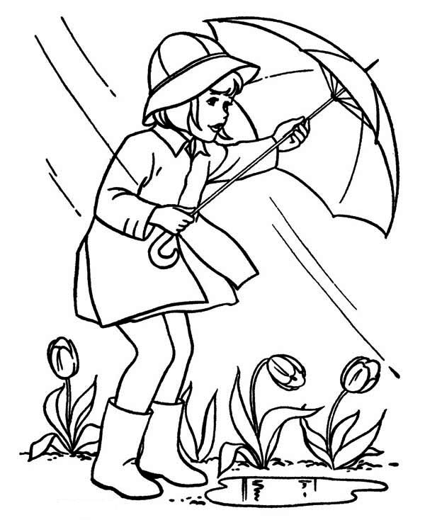 April Shower Before Springtime Coloring Page - Download & Print ...