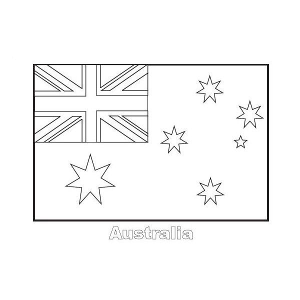 Australian Nation Flag Coloring Page Australian Nation