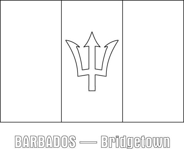 barbados nation flag coloring page download print online Suriname Flag Coloring Page Suriname Flag Coloring Page