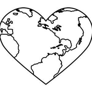 Bring Love and Peace on Earth Day Coloring Page
