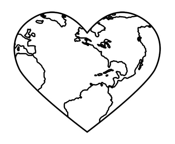 Bring Love and Peace on Earth Day Coloring Page Download Print