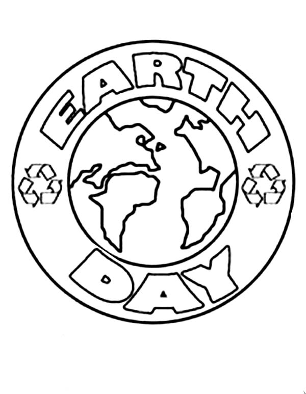 Earth Day Campaign Logo Coloring Page - Download & Print Online ...
