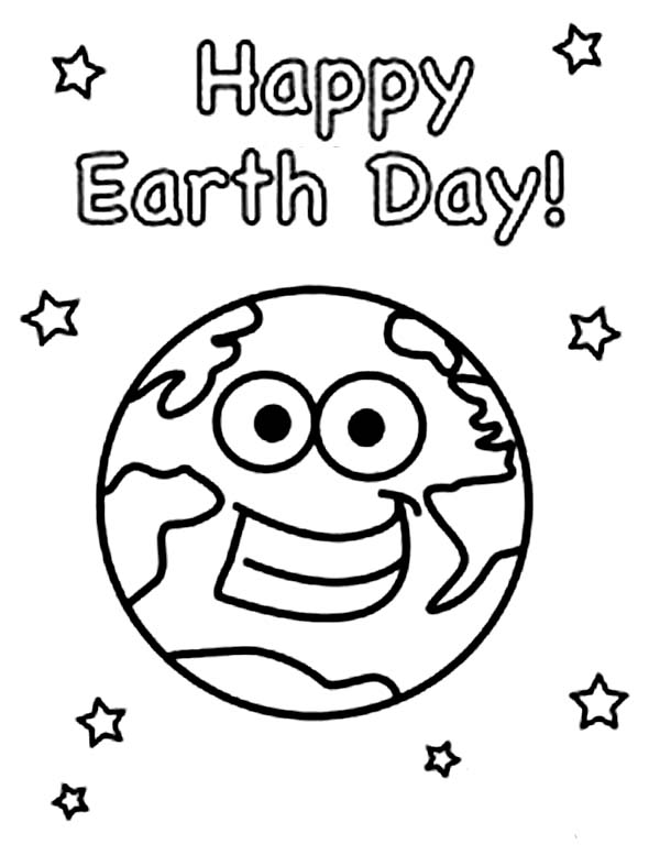 Happy Earth Day to All Coloring Page Download Print Online