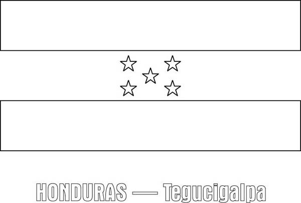 Honduras Nation Flag Coloring Page  Download  Print Online