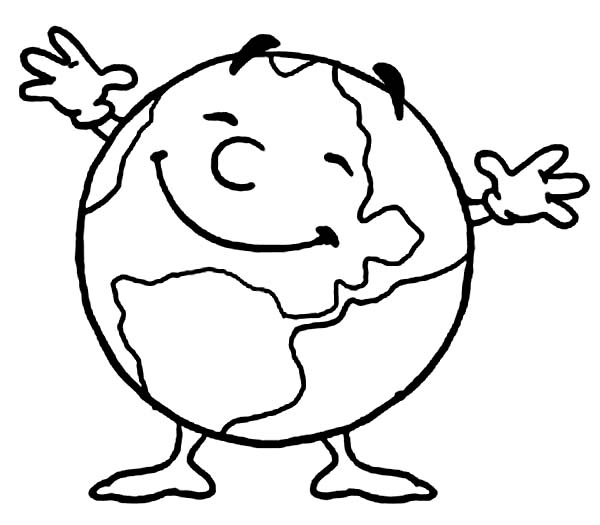 Mr Earth Day is Very Happy Today Coloring Page Download Print