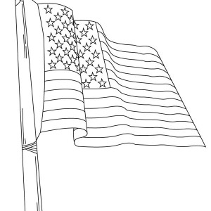 Nation Flag of United States Coloring Page
