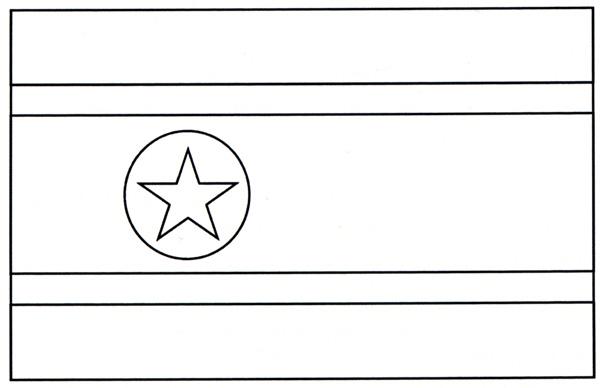 North Korea Nation Flag Coloring