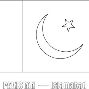 Pakistan Printable Coloring Pages Pakistan Flag Coloring Page