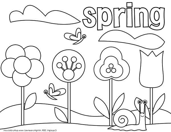 Sprint coloring pages ~ Picture of Springtime Coloring Page - Download & Print ...