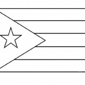 Puerto Rico Nation Flag Coloring Page