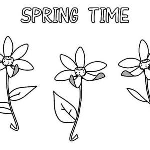springtime flower coloring page