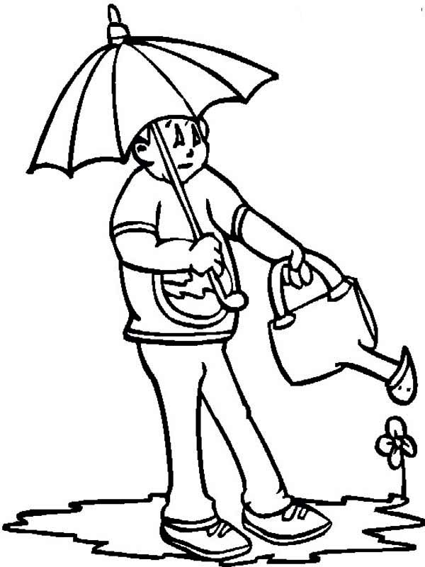 watering flowers coloring pages - photo#23