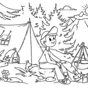 Enjoy Your Summertime Holiday Coloring Page Download Print - Enjoy your summer coloring page