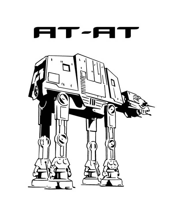 AT AT in Star Wars Coloring Page: AT AT in Star Wars Coloring Page ...