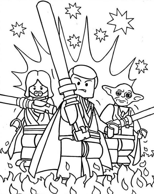 awesome lego of star wars characters coloring page - Cartoon Characters To Colour In And Print