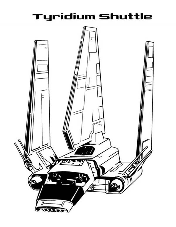 Print Awesome Tyridium Shuttle In Star Wars Coloring Page Full Size