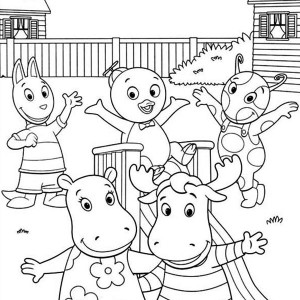 summertime backyardigans and friends on summertime coloring page backyardigans and friends on summertime coloring