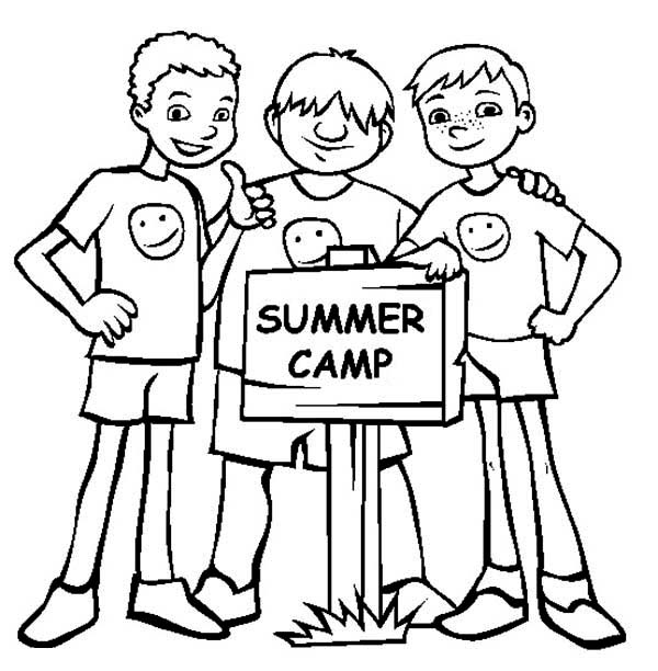 Bestfriends on Summer Camp Coloring Page Download
