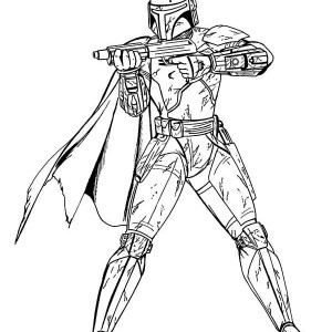 Star Wars Boba Fett In Coloring Page