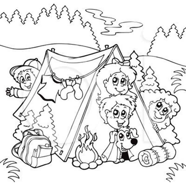 Bunch Kids Dog Summer Camp Coloring