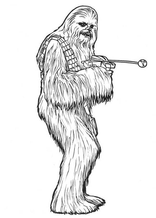 Chewbacca in Star Wars Coloring Page Download Print Online