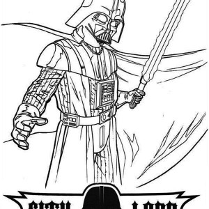 Darth Vader is so Angry in Star Wars Coloring Page