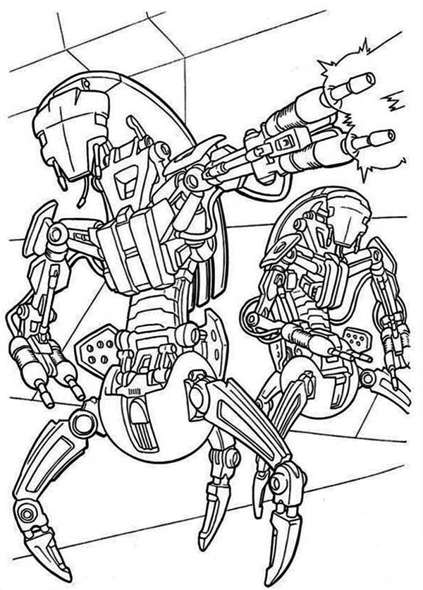 Star Wars Clone Is Shooting Star Wars Coloring Pages