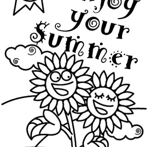 Enjoy Your Summertime Holiday Coloring Page