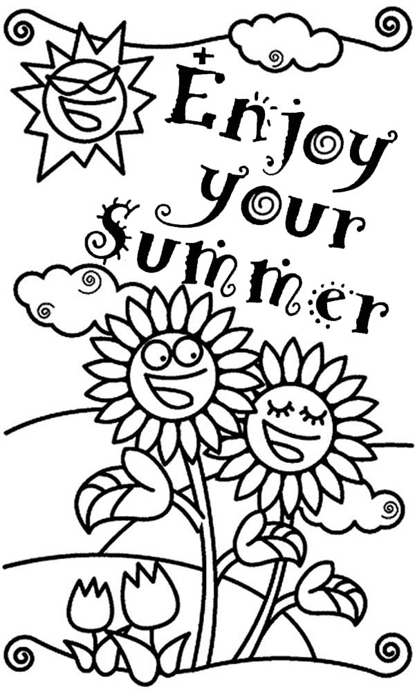 enjoy your summertime holiday coloring page download print free end of school year coloring pages printable end of school coloring pages - School Coloring Pages Printable