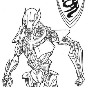 general grievous from star wars coloring page