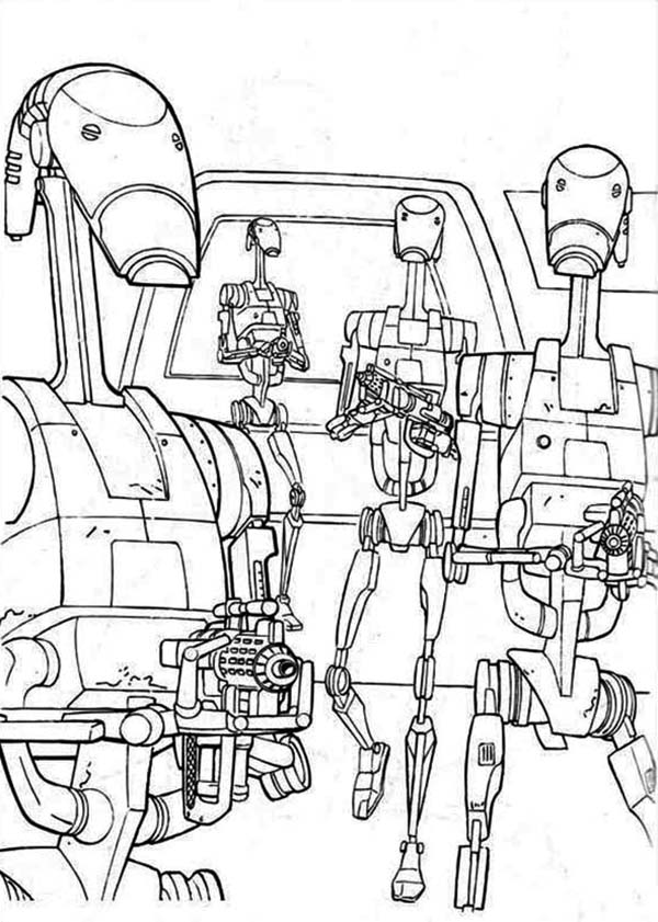 Print how to draw droidekas in star wars coloring page in full size