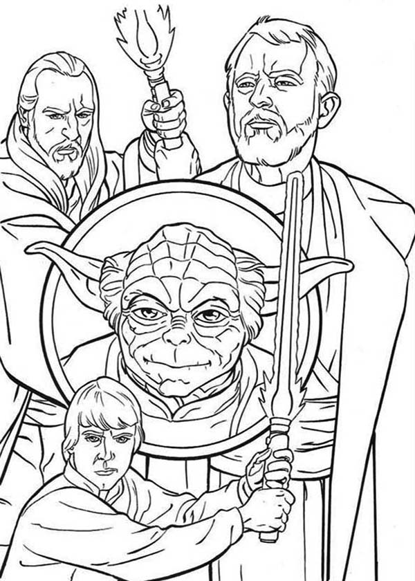 free star wars character coloring pages | How to Draw the Star Wars Characters Coloring Page ...