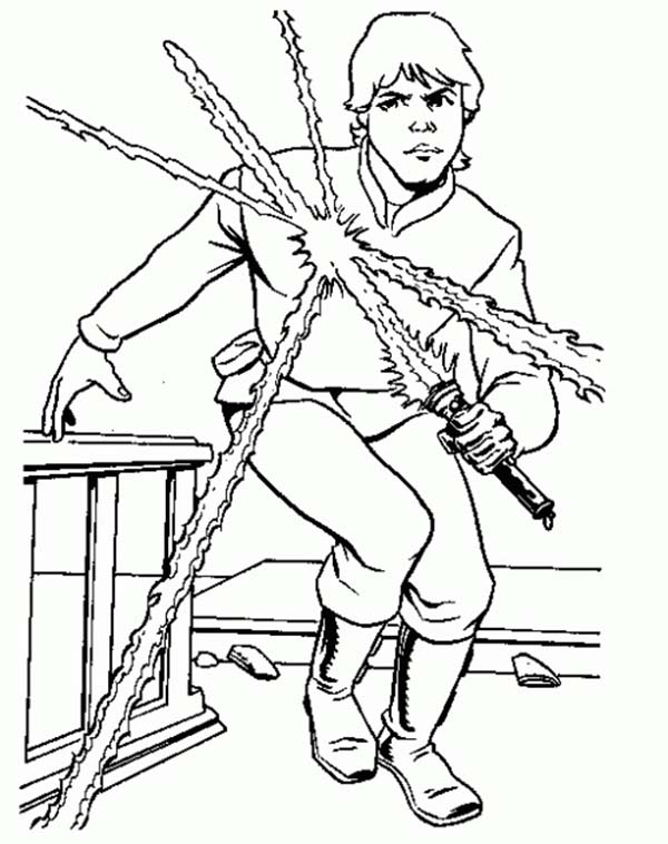 Luke Skywalker from Star Wars Coloring Page Download Print