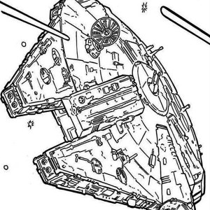 Droidekas Shooting Laser Gun in Star Wars Coloring Page Droidekas