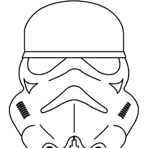 Picture of the Clone Trooper Head in Star Wars Coloring Page