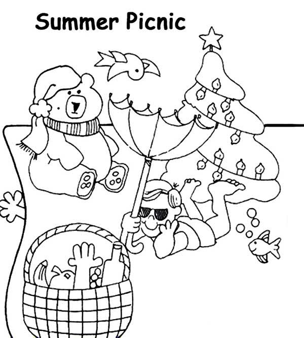 Summertime Picnic Coloring Page - Download & Print Online Coloring ...