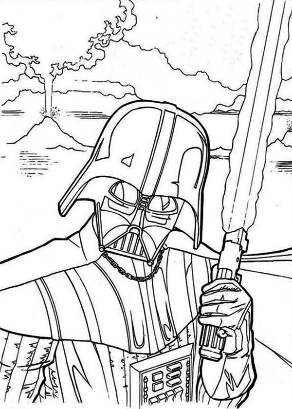 Star Wars The Evil Darth Vader In Coloring Page