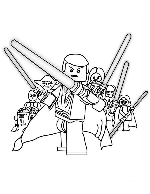 Print The Star Wars Characters Lego Coloring Page In Full Size