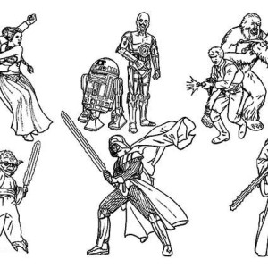 The Star Wars Movie Coloring Page
