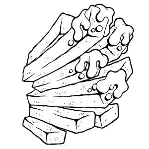 Avoid Junk Food Fries Coloring Page