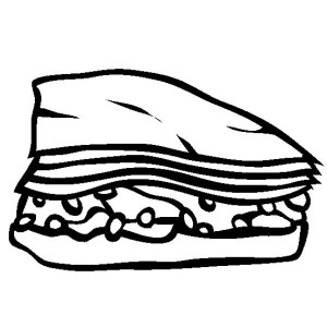 Baklava Junk Food Coloring Page