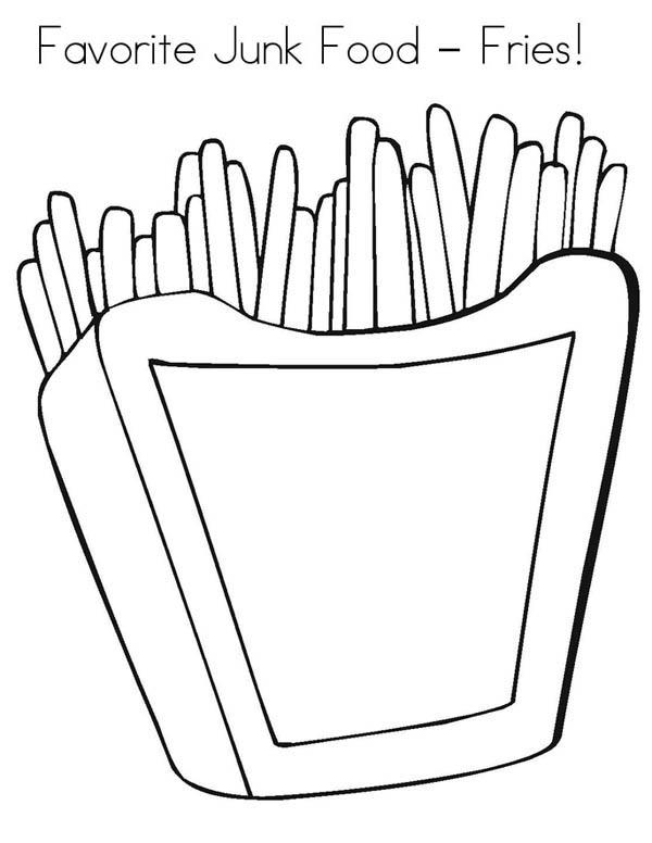 Favorite Junk Food Fries Coloring