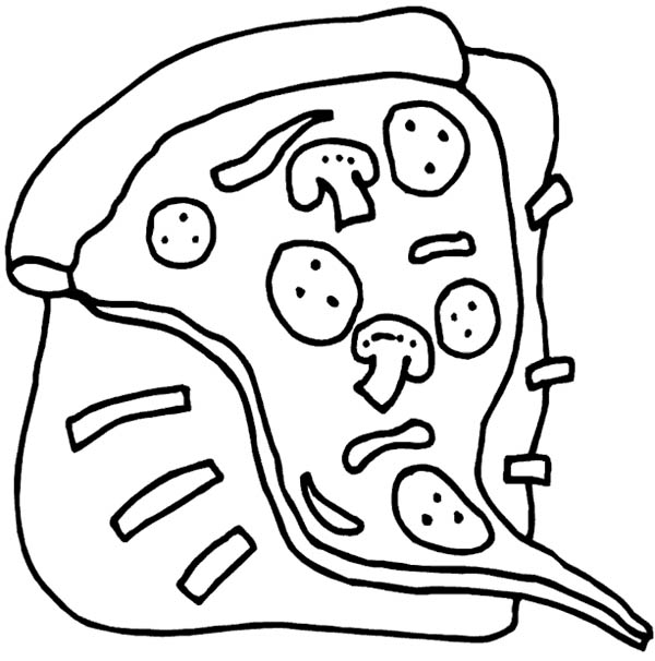 Heart Disease Becasuse of Junk Food Pizza Coloring Page - Download ...