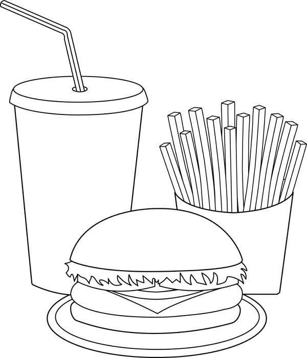 coloring pages of junk food - photo#18