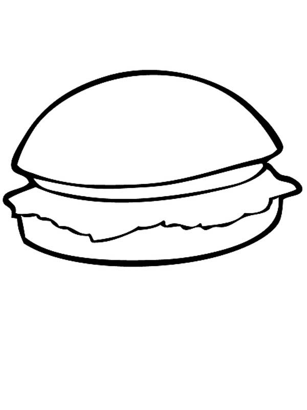 Junk Food Hamburger Coloring Page - Download & Print Online ...