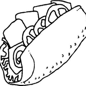 Junk Food Sandwich Coloring Page