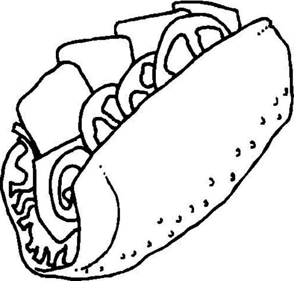 Junk food sandwich coloring page junk food sandwich for Sandwich coloring page
