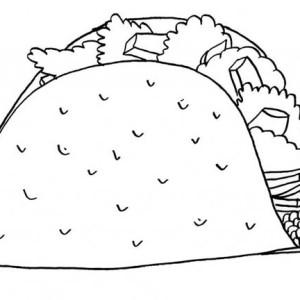 mexican taco junk food coloring page