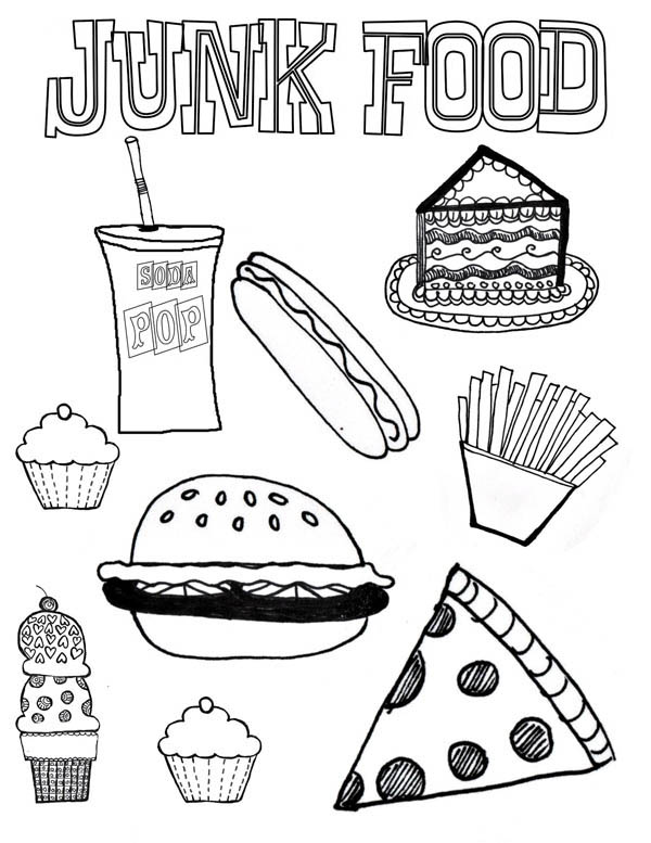 the gallery for gt unhealthy food coloring pages