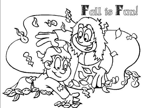 Autumn Leaf is Fun Coloring Page - Download & Print Online ...